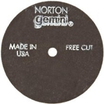 Norton 66252830424 Gemini Fast Cut Small Diameter ReInforced Abrasive Flat Cut-off Wheel, Type 01, Aluminum Oxide