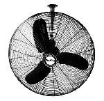 Air King 9375 30 In. 8780 CFM 3-Speed Industrial Grade Oscillating Ceiling Mount Fan