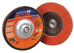 Norton 66261183490 4.5 In. Blaze R980P Ceramic Flap Disc 5/8-11 Hub 36 grit