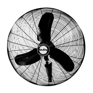 Air King 9075 30 In. Osc. Wall Mount Fan