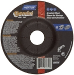 Norton 66252542020 Gemini Fast Cut Depressed Center Abrasive Wheel, Type 27, Aluminum Oxide 4 x 1/4 x 5/8