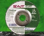 United Abrasives SAIT 22017 4 In. x 1/8 In. x 5/8 In. Depressed Center Grinding Wheel