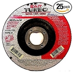 United Abrasives SAIT 23703 Type 27 4.5-In. x 1/8-In. x 7/8-In. 13300 MaxRPM TurboHigh Performance Specialty Grinding Wheels