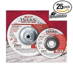 United Abrasives SAIT 23705 Type 27 Cutting/Grinding Wheel A24 Turbo, 5-In. by 1/8-In. by 7/8-In.